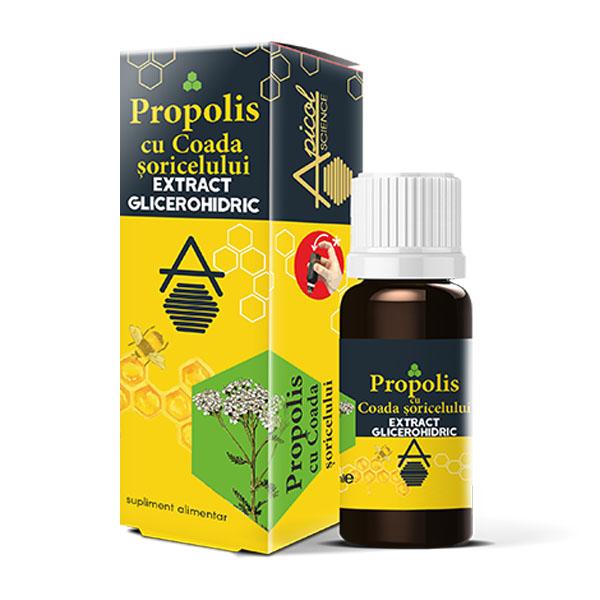 Apicol Propolis cu Coada Șoricelului extract glicerohidric