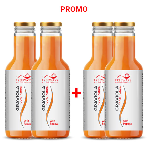 Promo - Graviola & Papaya - 470 ml -  2+2 GRATIS
