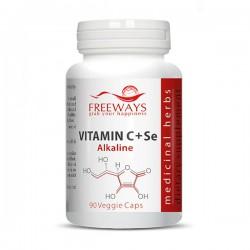 Vitamina C alcalina + Se (90 cps)